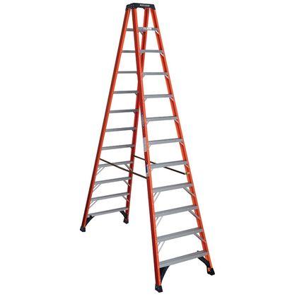 12' Twin Step Ladder, 300 lbs