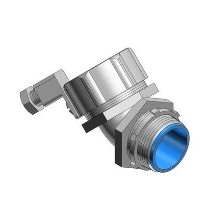 "Liquidtight Connector, 3/4"", Malleable Iron"