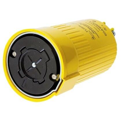 Locking Connector, Non-NEMA, 60A, 600V, Yellow