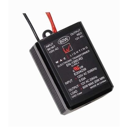 Lighting Transformer, Electronic, 120VAC Input, 12VAC Output, 60W