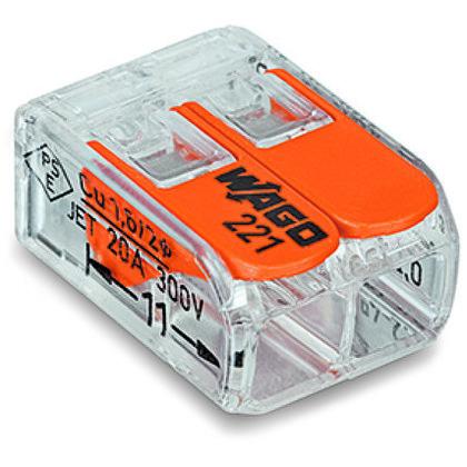 2-Wire Connectors, Orange, 100 per Box