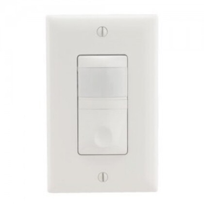 PIR Occupancy Sensor/Switch, RS, White