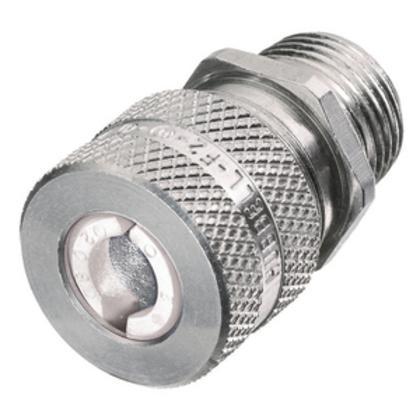 "Straight Cord Connector, 1/2"", Straight, Male, Aluminum"