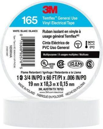 "General Use Vinyl Electrical Tape, Multi-Purpose, White, 3/4"" x 60'"
