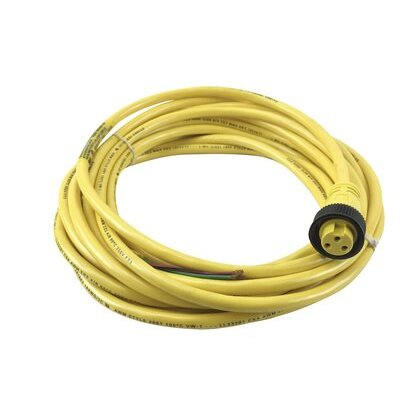 3 Pin, Mini-Change Cordset, Single-Ended, Female Straight Connector