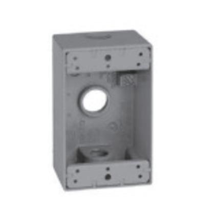 Single-Gang Weatherproof Outlet Box, Metallic